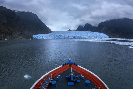 patagonian chile: The San Rafael Glacier in the Northern Patagonian Ice Field in southern Chile, South America.