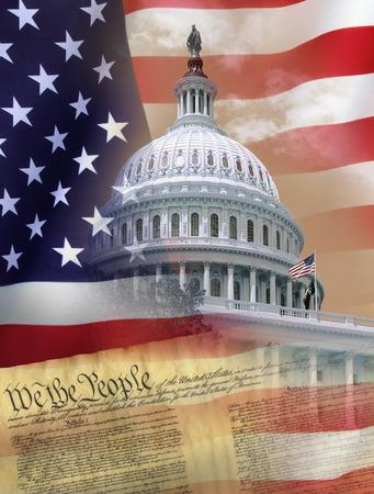 congressional: Washington DC - Symbols of the United States of America Stock Photo