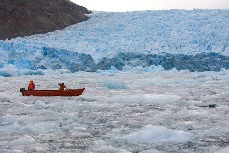 san: The San Rafael Glacier in Laguna San Rafael National Park in the Northern Patagonian Ice Field in southern Chile, South America. It calves into the Laguna San Rafael.