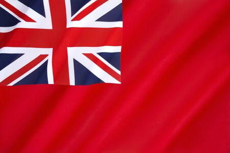 chorąży: The British Red Ensign - flown by British-registered ships.
