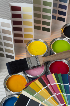 Painting and decorating - Color charts and tester pots