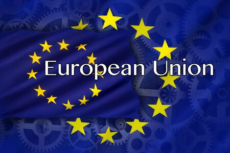 european economic community: Trade and Industry in the European Union - an economic and political association of certain European countries as a unit with internal free trade and common external tariffs. Stock Photo