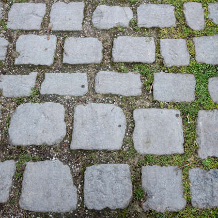 cobbled: Cobbled Path - a path paved with stone cobbles Stock Photo