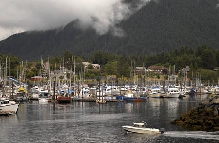 sitka: The harbor at Sitka in Alaska.