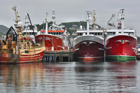 republic of ireland: Commercial fishing trawlers -The town of Killybegs in County Donegal in the Republic of Ireland