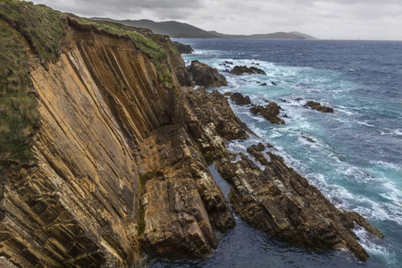 bounded: Dramatic coastline of the Beara Peninsula, on the southwest coast of the Republic of Ireland, bounded between the Kenmare River (actually a bay) to the north side and Bantry Bay to the south. It has two mountain ranges running down its center: the Caha Mo