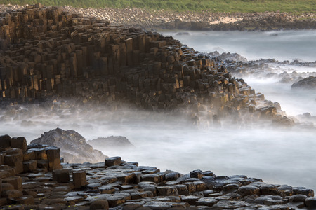 The Giants Causeway in County Antrim in Northern Ireland.