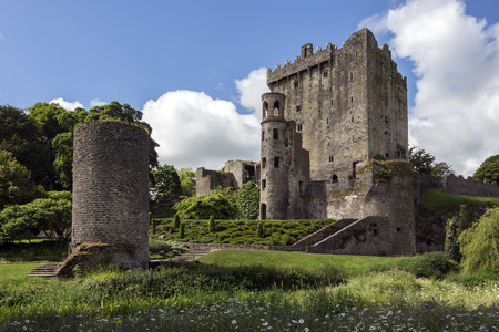Blarney Castle is a medieval stronghold in Blarney, near Cork, Ireland. The castle originally dates from before 1200, when a timber house was believed to have been built on the site, although no evidence remains of this. Around 1210 this was replaced by a Editorial