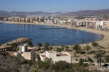 southeastern: The Mediterranean port of Aguilas on the Costa Calida in Murcia in southeastern Spain