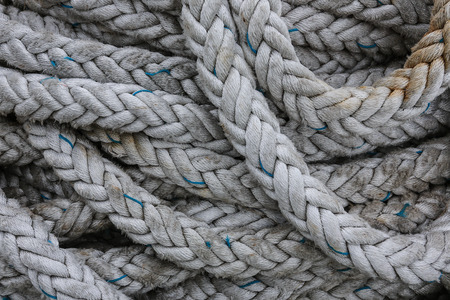 fishing industries: Coils of strong rope
