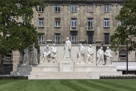 uprising: Budapest, Hungary - Monument to Lajos Kossuth (1802�94), Hungarian statesman and patriot. He led the 1848 insurrection against the Hapsburgs, but after brief success the uprising was crushed and he began a lifelong period of exile. The building beh Editorial