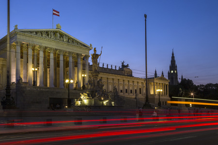 legislature: Parliament Buildings on Ringstrabe in Vienna, Austria. The Austrian Parliament is the bicameral legislature in Austria. It consists of two chambers: the National Council (Nationalrat) and the Federal Council.