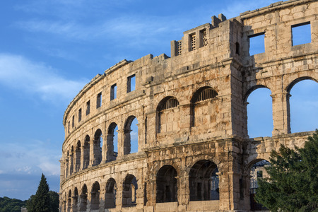 The Pula Arena is the name of the amphitheatre located in Pula, Croatia. The Arena is the only remaining Roman amphitheater to have four side towers and with all three Roman architectural orders entirely preserved.