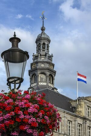 The city of Maastricht in southeast Netherlands. The Town Hall building in Markt, the main market square.
