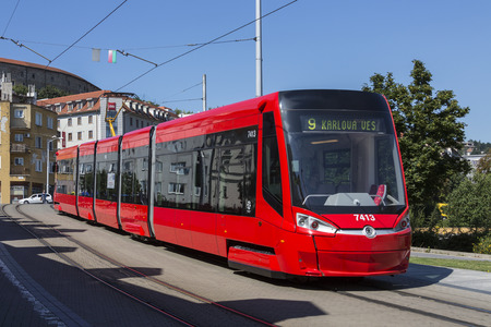 earlier: A Skoda 30T tram operating in the city of Bratislava in Slovakia. The fully air-conditioned Skoda 30T is a five car, low-floor, bi-directional tram, developed by Skoda Transportation for the Bratislava tram system based on an earlier model, the Skoda 26T