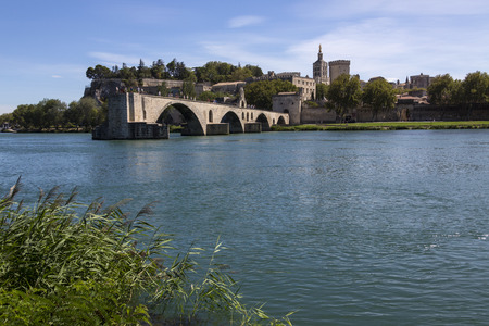 exile: The Pont dAvignon (Pont Saint-Benezet) and the city of Avignon in the department of Vaucluse on the left bank of the Rhone River. it was the residence of the popes during their exile from Rome. Between 1309 and 1377, seven successive popes resided in Avi
