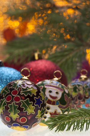 christmastide: Christmas baubles and decorations