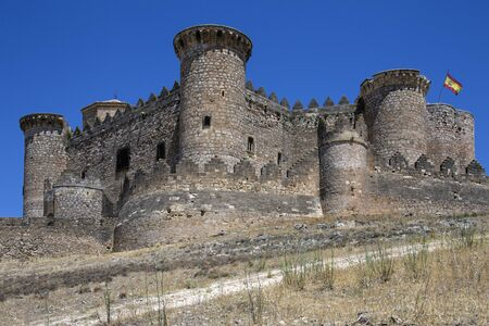 The medieval fortress in the town of Belmonte in the municipality of Cuenca in the La Mancha region of central Spain.