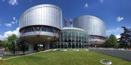 ストラスブール, フランス - 人権の欧州裁判所。人権に関する欧州条約によって設立された国際裁判所。アプリケーション状態の契約が人権規定の 1
