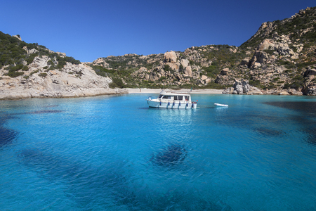 The Maddalena Archipelago - a group of islands in the Straits of Bonifacio between Corsica (France) and north-eastern Sardinia (Italy). It consists of seven main islands and numerous other small islets.The area is part of the Arcipelago di La Maddalena Na