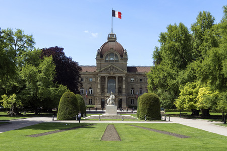 former: The Palais du Rhin in the city of Strasbourg in the Alsace region of France. The former Kaiserpalast (Imperial palace), it is situated in the Place de la Republique. Editorial