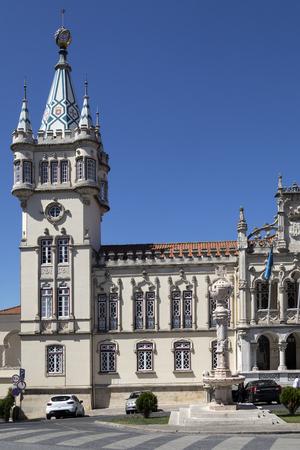 시립 건물의 Sintra, 포르투갈 리스본 근처. 지방의 시민 행정부를 수용하기 위해 지어졌습니다. 에디토리얼