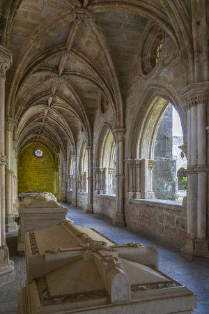 Cloisters of Evora Cathedral (the Se) in the city of Evora in Portugal. Editorial