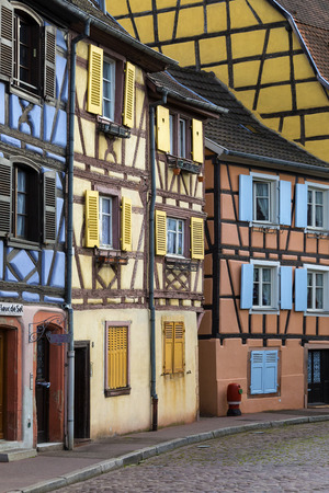 venice: Historic buildings in the historic Little Venice area of the old town of Colmar in the Alsace region of northeast France. Editorial