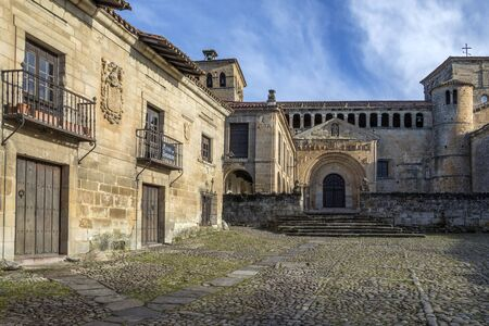 The Church of the Colegiata in Santillana del Mar, an historic town situated in Cantabria in northern Spain. It has many historic buildings.