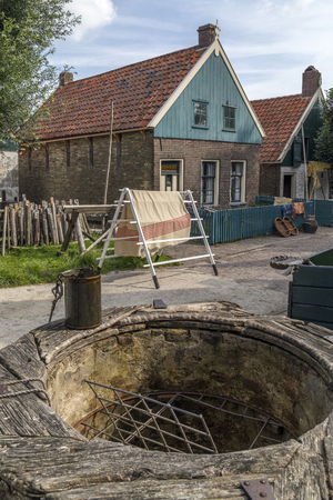 Recreation of an 19th century Dutch village at the Zuiderzee Open Air Museum in the Netherlands
