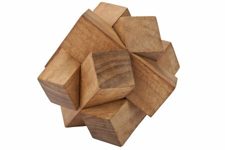 A wooden puzzle - isolated