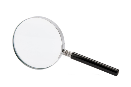 A magnifying glass (called a hand lens in laboratory contexts) is a convex lens which is used to produce a magnified image of an object.