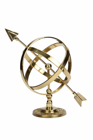Armillary Sphere or Armilla - a celestial globe consisting of metal hoops. Used by early astronomers to determine the positions of stars Banco de Imagens - 92402499