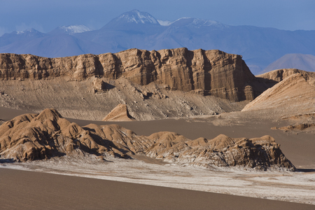 The arid wasteland of the Atacama Desert in northern Chile in South America.