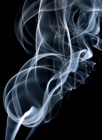 Swirls of smoke Stock Photo