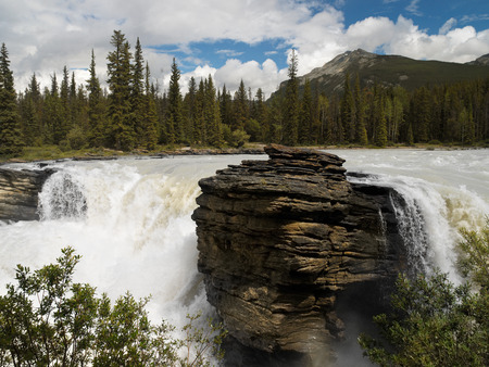 Athabasca Falls on the Athabasca River in Jasper National Park in British Columbia, Canada