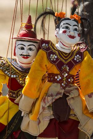 Fantoches burmese em Bagan em Myanmar (Burma). Foto de archivo - 92408361