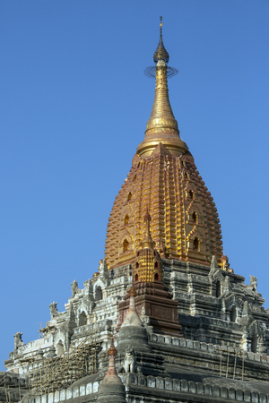The Ananda Buddhist Temple in the ancient city of Bagan in Myanmar (Burma). Dates from 1105AD.