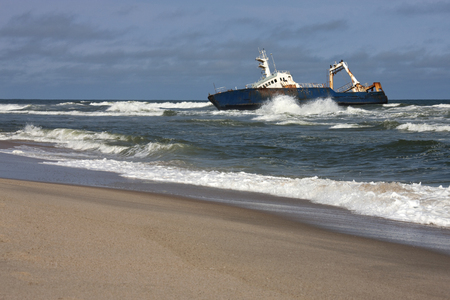 Shipwreck on the Skeleton Coast in Namiba Editorial