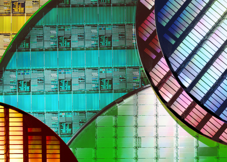 Silicon Wafers and Microcircuits - A wafer is a thin slice of semiconductor material, such as a crystalline silicon, used in electronics for the fabrication of integrated circuits.
