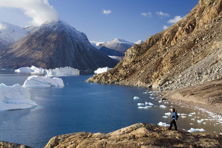 Northwest Fjord in the far reaches of Scoresbysund in eastern Greenland