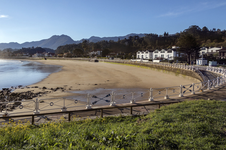 The waterfront at Rabadesella in the Asturias region of northern Spain