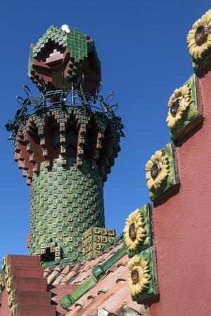 Anton Gaudi's El Capricho, a modernista landmark in the coastal town of Comillas in the Cantabria region of northern Spain.