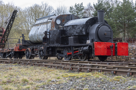 An old engine in the goods shunting yard - Beamish Museum in the northeast of England