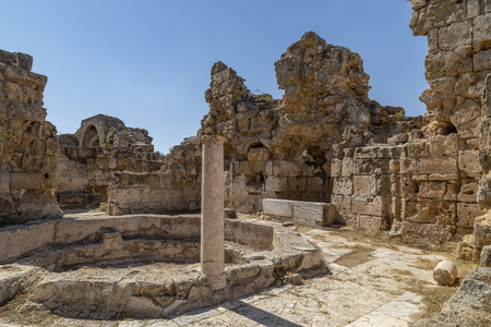 The ruins of Salamis in the Turkish Republic of Northern Cyprus (TRNC). These Roman ruins date from around 31BC.