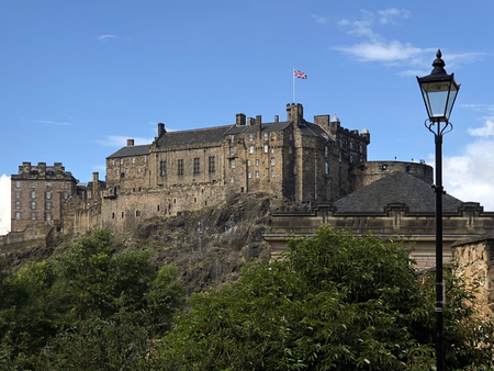 Edinburgh Castle, historic, fortress, Edinburgh, Scotland, landmark, fort, castle, Scottish, travel
