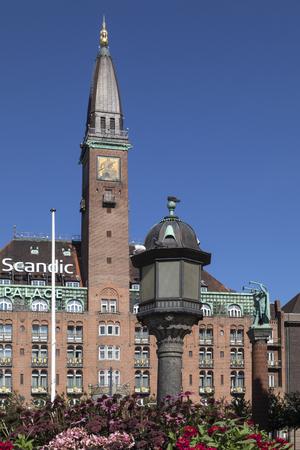 The landmark Palace Hotel Building in Radhuspladsen (Town Hall Square) in Copenhagen, Denmark.