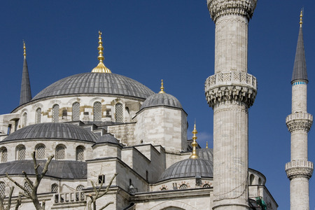The Blue Mosque (Sultan Ahmed Mosque) in the Sultanahmet district of Istanbul in Turkey.