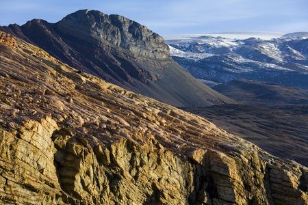 Rugged landscape near Myggebuten in eastern Greenland. Zdjęcie Seryjne