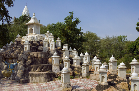 Sonagiri in the Bundelkhand area of Madhya Pradesh region of India. There are 77 Jain temples at Sonagiri shown here in minature.